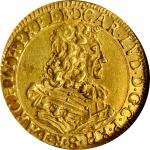 GERMANY. Palatinate (Pfalz). 1/2 Ducat, 1673. Karl Ludwig. NGC AU-55.
