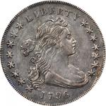 1796 Draped Bust Silver Dollar. BB-61, B-4. Rarity-3. Small Date, Large Letters. EF-45 (PCGS).