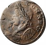 1786 Connecticut Copper. Miller 5.7-H.1, W-2610. Rarity-5. Mailed Bust Left. EF-40 (PCGS).
