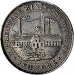 New York—New York. 1867 F. Prentice. Rulau NY-NY 255. Silver. 32 mm. AU-53 (PCGS).