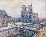 Maximilien LUCE 1858 - 1941NOTRE DAME - 1899Huile sur toileSignee et datee en bas a droite