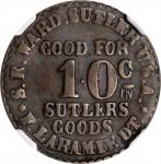 Dakota Territory. Fort Laramie. Seth E. Ward. 10 Cents. Schenkman DT-FL-10C (DT-A10C). Rarity-9. Cop