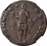1788 Massachusetts Cent. Ryder 11-F, W-6310. Rarity-5-. Slim Indian, Period After MASSACHUSETTS. VF-