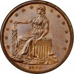 1859 Pattern Half Dollar. Judd-236, Pollock-285. Rarity-5. Copper. Reeded Edge. Proof-64 BN (PCGS).
