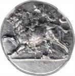 PELOPONNESOS. Sikyonia. Sikyon. AR Stater (12.24 gms), ca. 431-400 B.C. NGC Ch AU, Strike: 4/5 Surfa