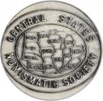 1948-1950 Central States Numismatic Society Presidents Medal. Silver-Plated. 31 mm. Awarded to R.S.