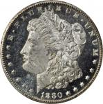 1880-CC Morgan Silver Dollar. VAM-6. Top 100 Variety. 8/Low 7. MS-64 (PCGS). Gold Shield Holder. CAC