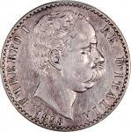 1898-R意大利2里拉银币,PCGS XF Detail,有清洗
