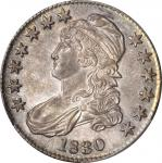 1830 Capped Bust Half Dollar. O-115. Rarity-2. Small 0. MS-64 (PCGS).