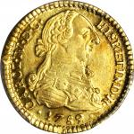 COLOMBIA. Escudo, 1789/8-SF. Popayan Mint. Charles IV (1788-1808). PCGS AU-58 Gold Shield.