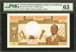 CENTRAL AFRICAN REPUBLIC. Empire Centrafricain. 10,000 Francs, ND (1978). P-8. PMG Choice Uncirculat