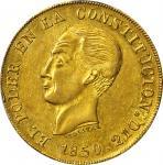 ECUADOR. 1850-GJ 8 Escudos. Quito mint. KM-34.1. AU Details — Scratch (PCGS).