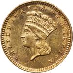 1873 $1 Gold Indian. Open 3