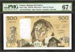 FRANCE. Banque de France. 500 Francs, 1988-90. P-156g. PMG Superb Gem Uncirculated 67 EPQ.