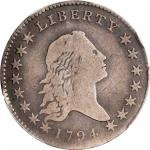 1794 Flowing Hair Half Dollar. O-101, T-7. Rarity-3+. VG Details--Graffiti (PCGS).