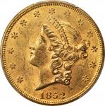 1852 Liberty Head Double Eagle. MS-61 (PCGS). CAC.