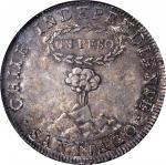 CHILE. Peso, 1819-SoFD. NGC AU-58.