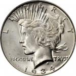 1934-S Peace Silver Dollar. MS-65+ (PCGS). CAC.