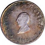 MEXICO. Oaxaca. 5 Pesos, 1915-TM. PCGS MS-65 Gold Shield.