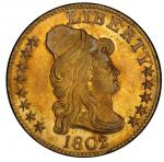 1802/1 Capped Bust Right Half Eagle. Bass Dannreuther-1. Rarity-4+. Mint State-66 (PCGS).