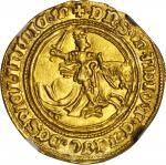 ITALY. Naples. Ducato e Mezzo (1-1/2 Ducat), ND (1442-58). Alfonso I (1442-58). NGC MS-63.