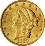 1869-S Liberty Head Double Eagle. MS-60 (PCGS). CAC.