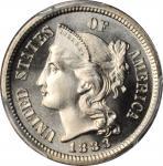 1883 Nickel Three-Cent Piece. Proof-68 (PCGS).