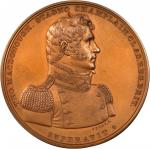 1814 Master Commandant Thomas Macdonough Medal. Bronzed Copper. 65 mm. Julian NA-15. Mint State.