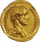 ANTONINUS PIUS, A.D. 138-161. AV Aureus (7.48 gms), Rome Mint, A.D. 139. NGC AU, Strike: 5/5 Surface