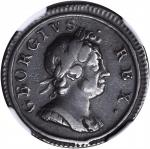 GREAT BRITAIN. Farthing, 1717. George I (1714-27). NGC FINE-15 BN.