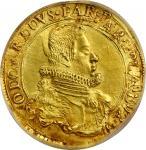 1622意大利帕尔马奥达多金币 PCGS XF Details