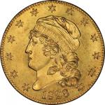 1828/7 Capped Head Left Half Eagle. Bass Dannreuther-1. Rarity-7+. Mint State-63 (PCGS).