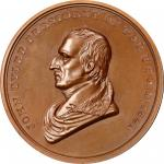 1841 John Tyler Indian Peace Medal. Bronze. Third Size. First Reverse. Julian IP-23, Prucha-45. MS-6