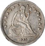 1861-S Liberty Seated Quarter. Briggs 1-A. VF-35 (NGC).