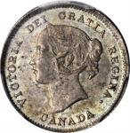 CANADA. 5 Cents, 1897. Victoria. PCGS MS-64 Gold Shield.