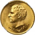 IRAN. Epidemic of 1831 Gold Medal, SH 1347 (1968). NGC MEDAL MS-67.
