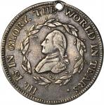 1799 (ca. 1800) Washington Funeral Urn Medal. Silver. 29.12 mm. 131.4 grains. Musante GW-70, Baker-1