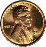 1925 Lincoln Cent. MS-65 RD (PCGS). OGH--First Generation.