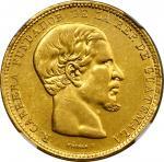 GUATEMALA. 20 Pesos, 1869-R. Nueva Guatemala Mint. NGC AU-55.