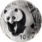 2002年熊猫纪念银币1盎司 NGC MS 70