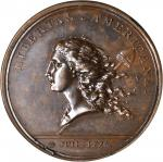 1781 (1782) Libertas Americana Medal. Bronze. 47 mm. By Augustin Dupre. Betts-615. MS-62 BN (PCGS).