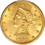1891-CC Liberty Head Eagle. MS-62 (PCGS).