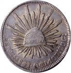 1841-Zs OM年墨西哥鹰洋壹圆银币。 萨卡特卡斯铸币厂。 MEXICO. 8 Reales, 1841-Zs OM. Zacatecas Mint. PCGS AU-55.