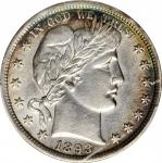 1893 Barber Half Dollar. EF Details--Cleaned (PCGS).