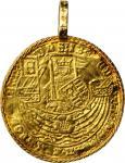 NETHERLANDS. Rozenobel (Flemish Noble), ND (ca. 16th Century). Gorinchem Mint.EXTREMELY FINE Detail