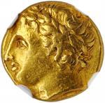SICILY. Syracuse. Agathokles, 317-289 B.C. AV Drachm (Hemistater) (4.32 gms), ca. 317-310 B.C. NGC C