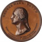 1889 Inauguration Centennial Thirteen Links Medal. Bronze. 54 mm. Musante GW-187, Douglas 52. Specim