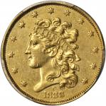 1838-C Classic Head Half Eagle. McCloskey-1. AU Details--Cleaning (PCGS).