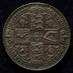 GREAT BRITAIN Victoria ヴィクトリア(1837~1901) Trial Uniface of Reverse Struck in lead 1847 弱キズあり AU