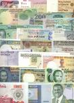 A Selection of World Banknotes, a group of approximately 84 notes featuring an assortment of countri